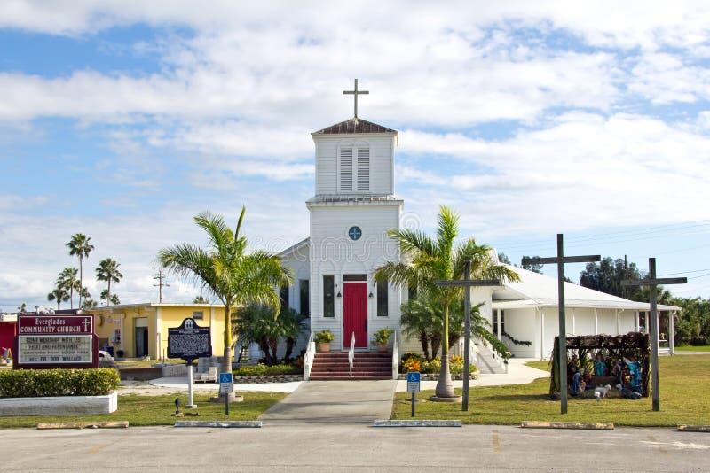 Πόλη Everglades, κοινοτική εκκλησία στοκ εικόνες