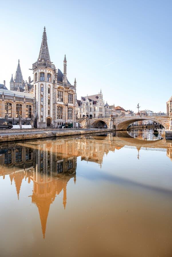 Πόλη Gent στο Βέλγιο στοκ φωτογραφίες με δικαίωμα ελεύθερης χρήσης
