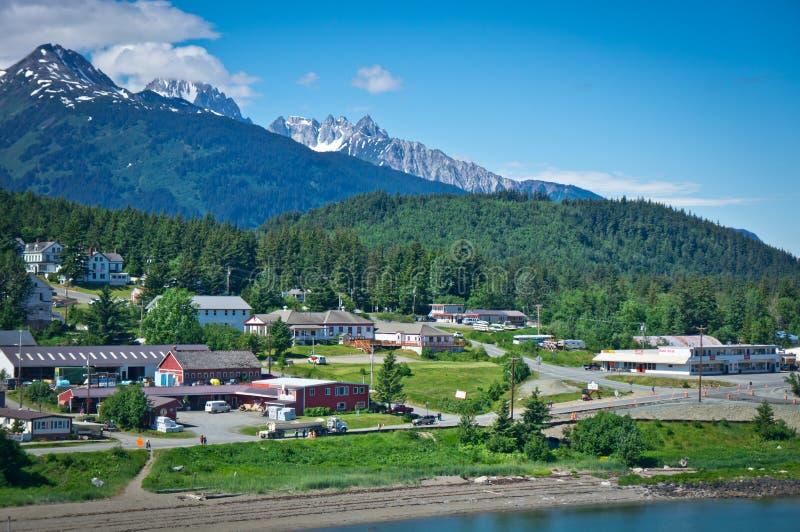 Πόλη Haines κοντά στον κόλπο παγετώνων, Αλάσκα, ΗΠΑ στοκ φωτογραφίες
