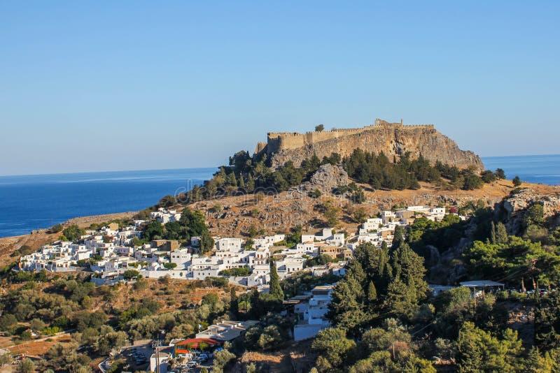 Πόλη Lindos στοκ φωτογραφία