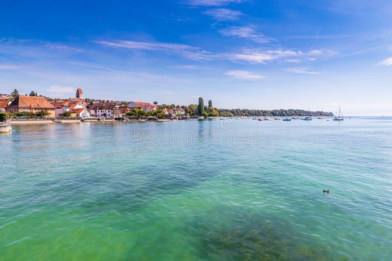 Πόλη Meersburg, λίμνη Constance, Γερμανία, Ευρώπη στοκ εικόνα με δικαίωμα ελεύθερης χρήσης