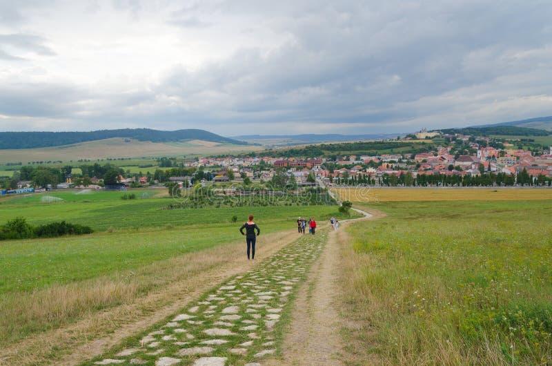 Πόλη Podhradie Spisske στη Σλοβακία στοκ εικόνες με δικαίωμα ελεύθερης χρήσης