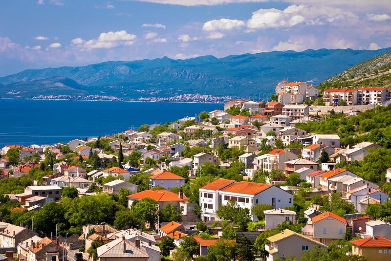 Πόλη Senj και της άποψης της Novi Vinodolski στοκ εικόνες