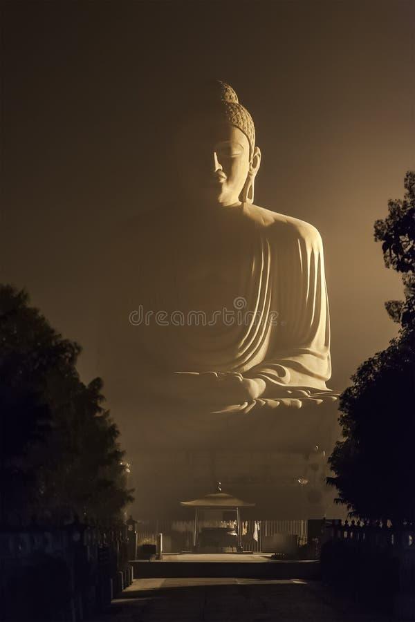 80 πόδια Βούδας σε Bodhgaya στοκ φωτογραφία