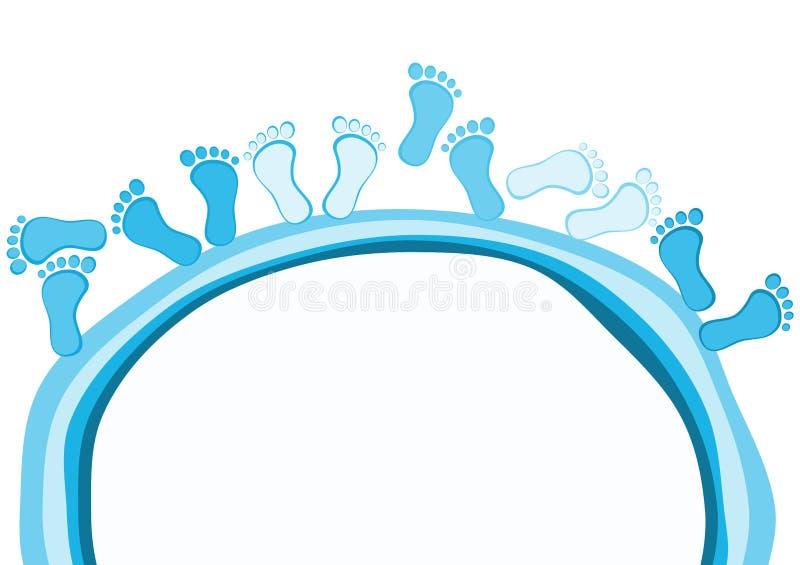 Πόδια γύρω από τη ευχετήρια κάρτα λιμνών ελεύθερη απεικόνιση δικαιώματος