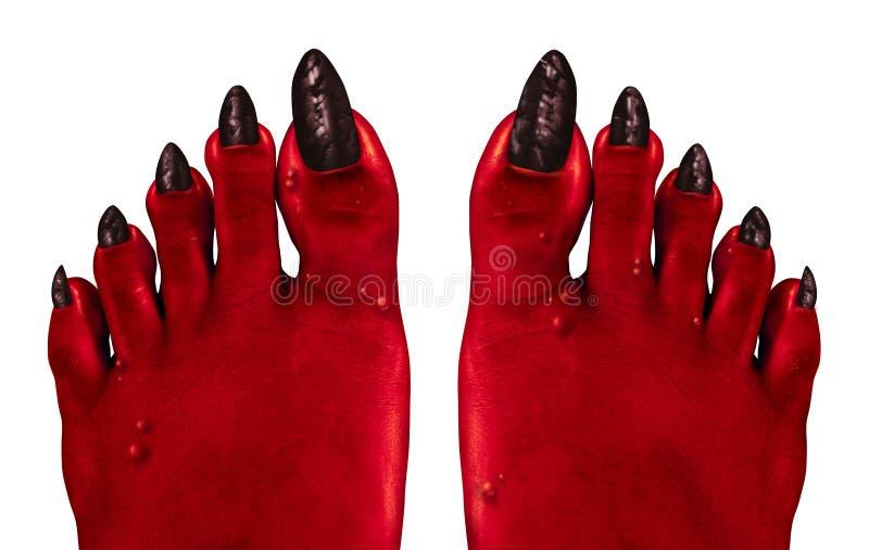 Πόδια διαβόλων διανυσματική απεικόνιση