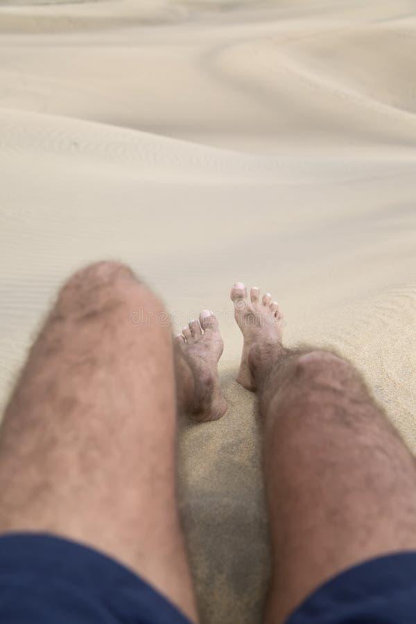 Πόδια στην άμμο στοκ φωτογραφίες