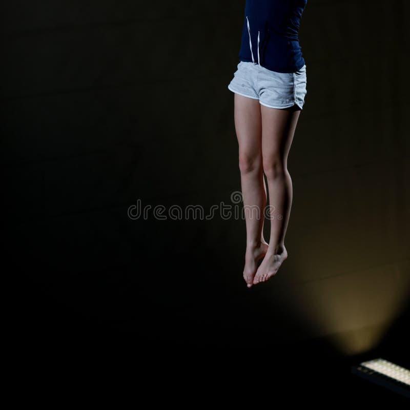 Πόδια gymnast στοκ φωτογραφία