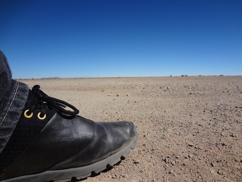 Πόδι στην έρημο στοκ εικόνες με δικαίωμα ελεύθερης χρήσης
