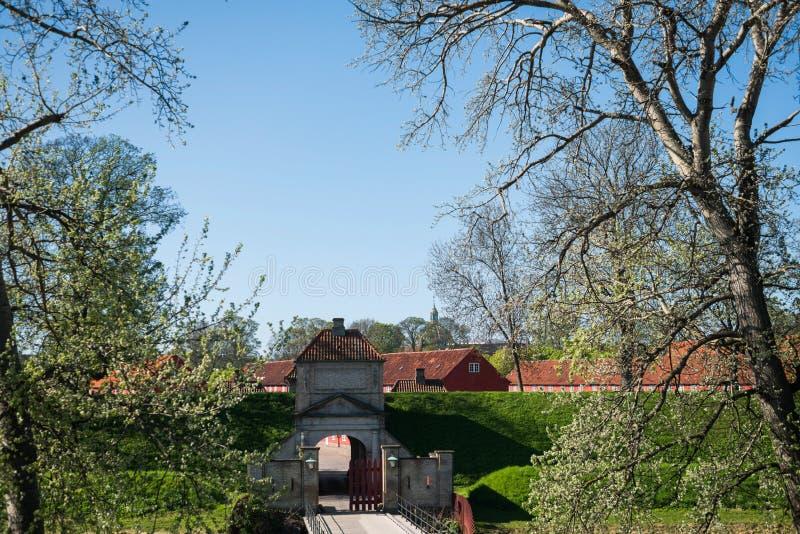 πύλες σε διάσημη Kastellet ή την ακρόπολη στοκ φωτογραφία με δικαίωμα ελεύθερης χρήσης