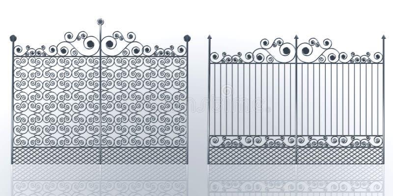 Πύλες σιδήρου διανυσματική απεικόνιση