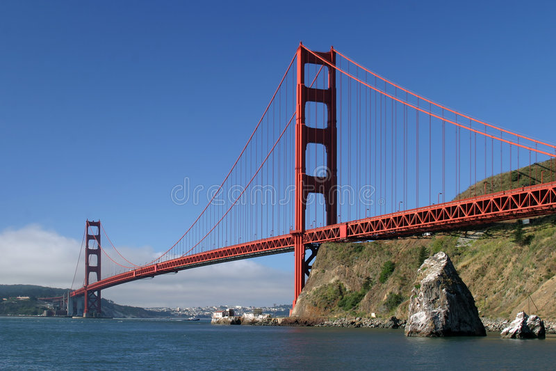 Download πύλη γεφυρών χρυσή Στοκ φωτογραφία με δικαίωμα ελεύθερης χρήσης - εικόνα: 794355