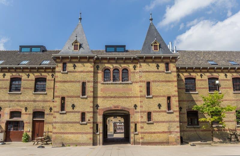 Πύλη εισόδων του κτηρίου Blokhuispoort στο leeeuwarden στοκ φωτογραφίες