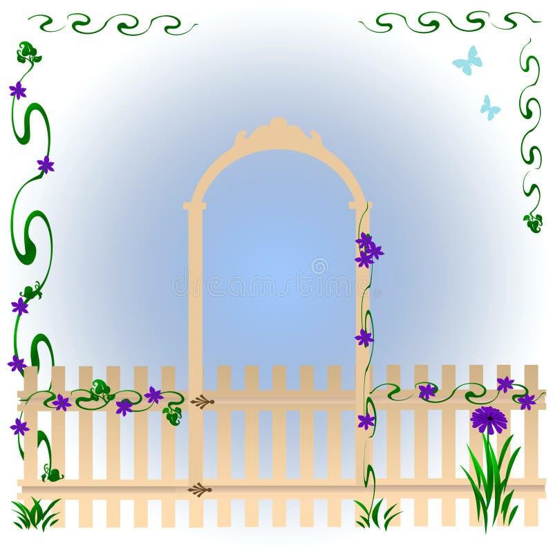 Download πύλη κήπων απεικόνιση αποθεμάτων. εικονογραφία από πλαίσιο - 17053338