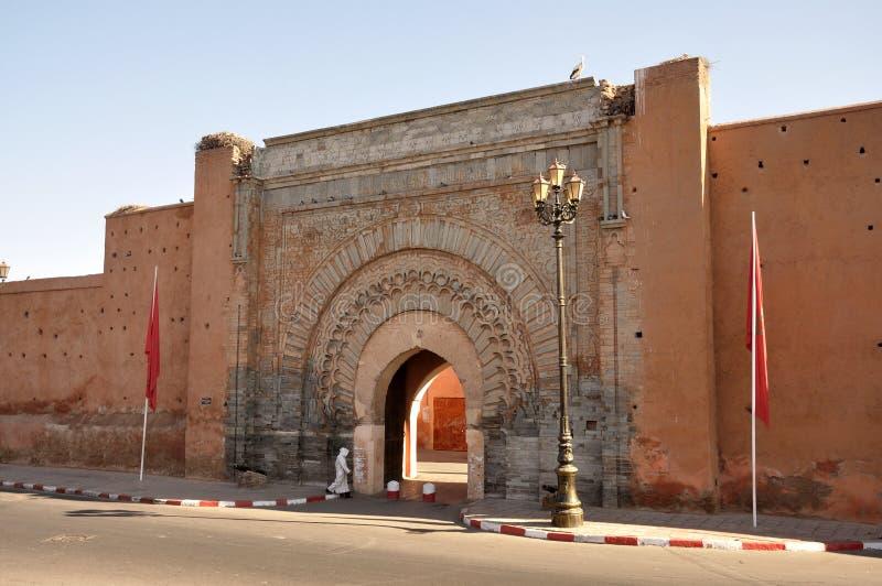 πύλη Μαρακές πόλεων agnaou bab στοκ εικόνες
