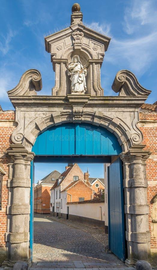 Πύλη σε Closter Beguinages σε Lier - το Βέλγιο στοκ εικόνα με δικαίωμα ελεύθερης χρήσης