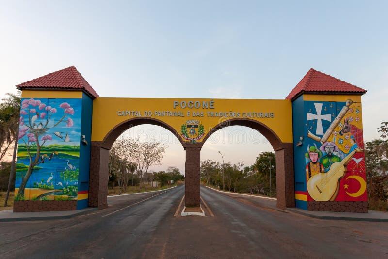 Πύλη σε Pantanal, βραζιλιάνο ορόσημο στοκ εικόνες