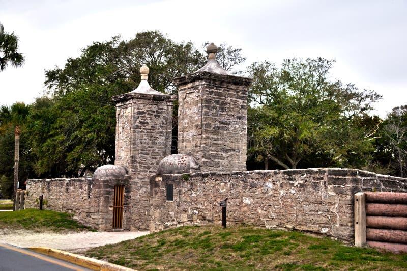 Πύλη στο ιστορικό ST Augustine, Φλώριδα στοκ φωτογραφία με δικαίωμα ελεύθερης χρήσης