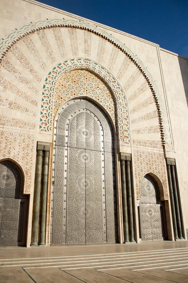Πύλη στο Χασάν ΙΙ μουσουλμανικό τέμενος, Καζαμπλάνκα, Μαρόκο στοκ εικόνες με δικαίωμα ελεύθερης χρήσης