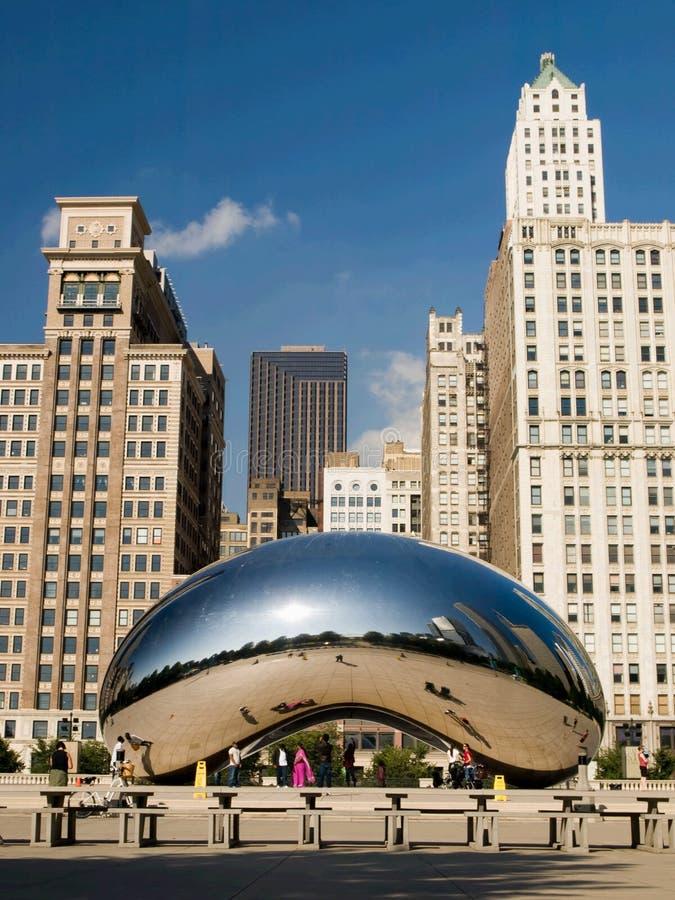 πύλη σύννεφων του Σικάγου στοκ φωτογραφία