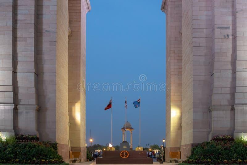 Πύλη της Ινδίας στο Νέο Δελχί, Ινδία στοκ εικόνα