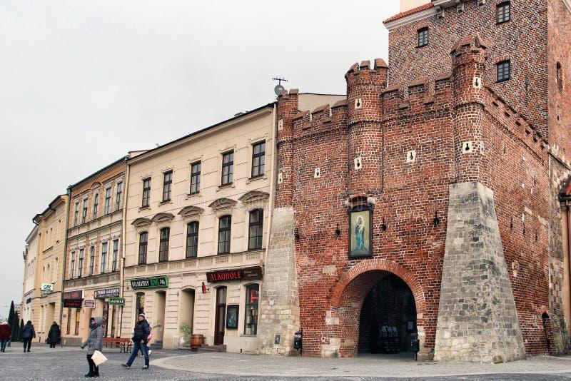 Πύλη της Κρακοβίας, Lublin, Πολωνία στοκ φωτογραφία με δικαίωμα ελεύθερης χρήσης