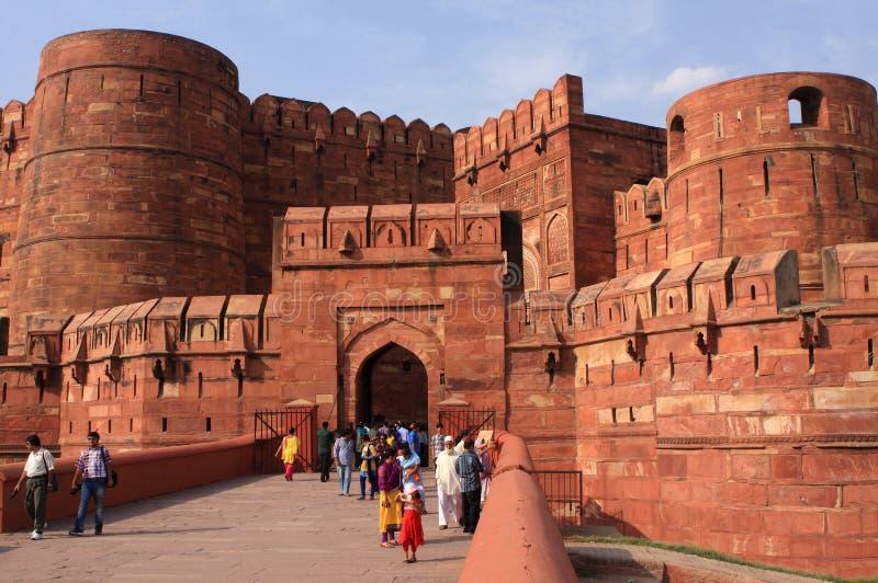 Πύλη του Αμάρ Σινγκ, κόκκινο οχυρό, Agra, Ινδία στοκ εικόνες με δικαίωμα ελεύθερης χρήσης