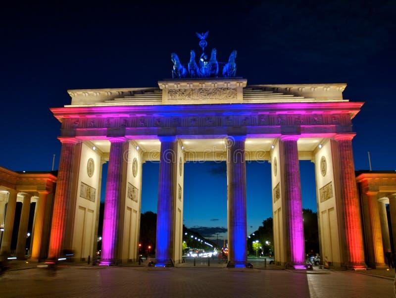 πύλη του Βερολίνου brandenberg στοκ εικόνα