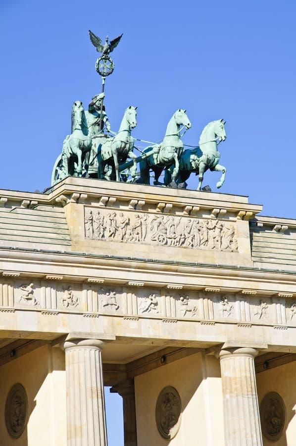 πύλη του Βερολίνου brandenburger στοκ εικόνα