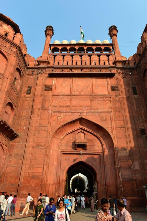 Πύλη του κόκκινου οχυρού, Νέο Δελχί στοκ φωτογραφίες