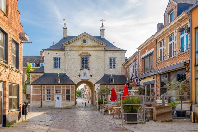 Πύλη φυλακισμένων στις οδούς Lier - του Βελγίου στοκ εικόνες