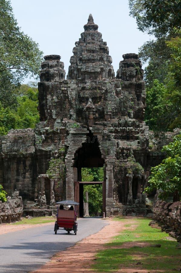 πύλη angor thom στοκ φωτογραφία