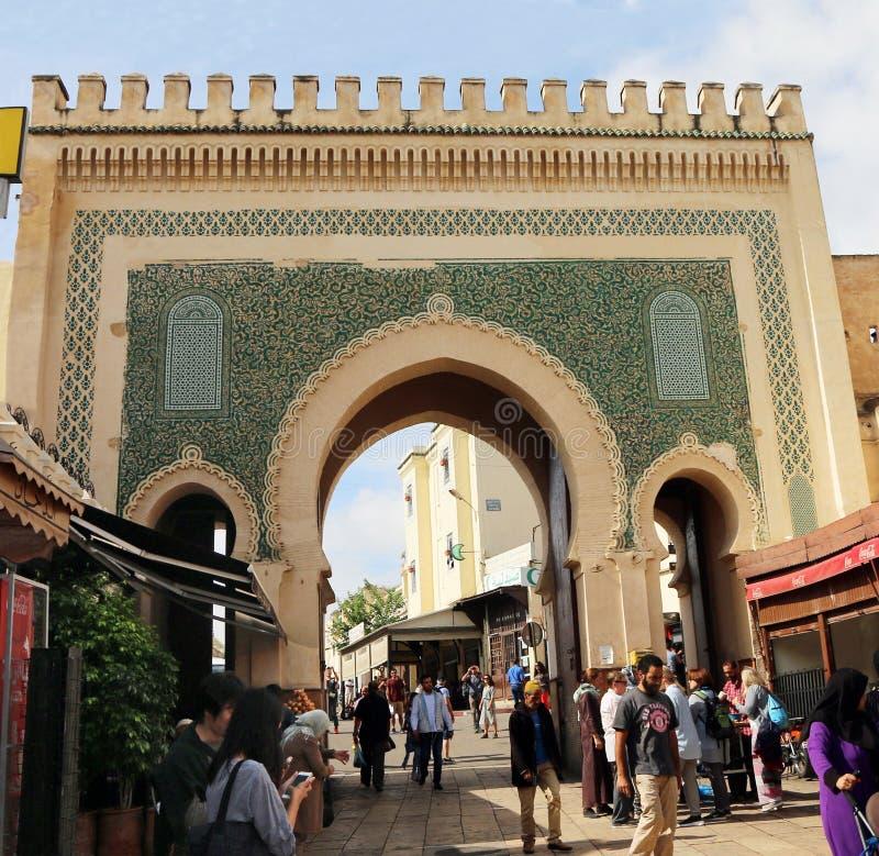Πύλη Bou Jeloud Bab σε Fes στοκ φωτογραφίες με δικαίωμα ελεύθερης χρήσης