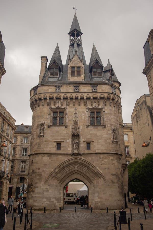 Πύλη Cailhau - Porte Cailhau στο Μπορντώ Γαλλία στοκ φωτογραφίες με δικαίωμα ελεύθερης χρήσης