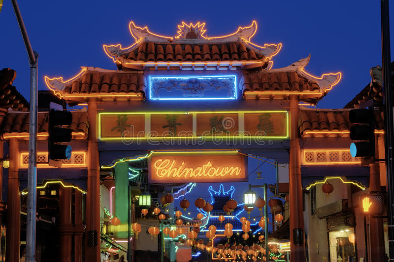 Πύλη Chinatown στοκ φωτογραφία με δικαίωμα ελεύθερης χρήσης