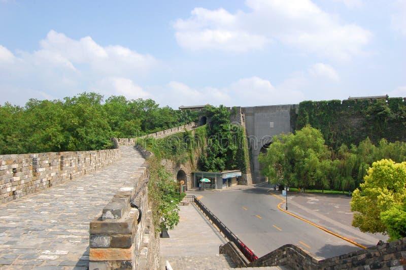 Πύλη Jiefang του Ναντζίνγκ, Κίνα στοκ εικόνα με δικαίωμα ελεύθερης χρήσης