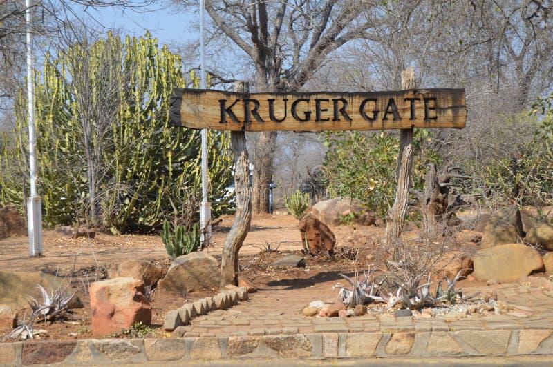 Πύλη Kruger, πύλη του Paul kruger στο εθνικό πάρκο Kruger στοκ φωτογραφία με δικαίωμα ελεύθερης χρήσης