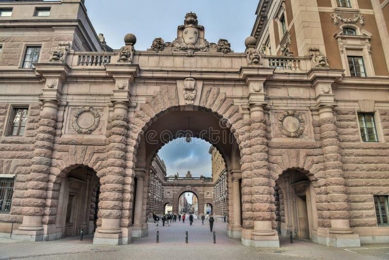 Πύλη Riksgatan στη Στοκχόλμη, Σουηδία στοκ φωτογραφίες με δικαίωμα ελεύθερης χρήσης