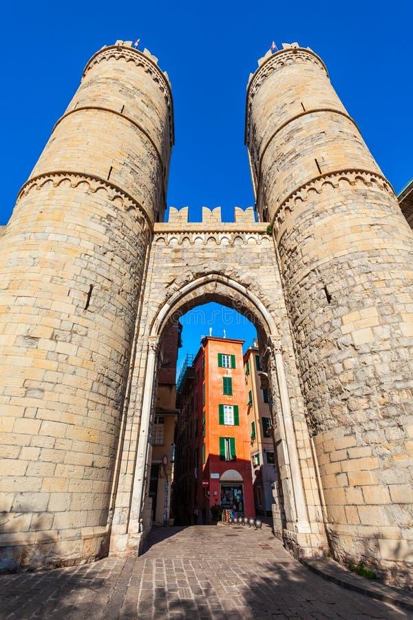 Πύλη Soprana Porta στη Γένοβα, Ιταλία στοκ φωτογραφίες με δικαίωμα ελεύθερης χρήσης