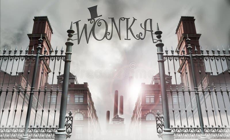 Πύλη Wonka στοκ εικόνα