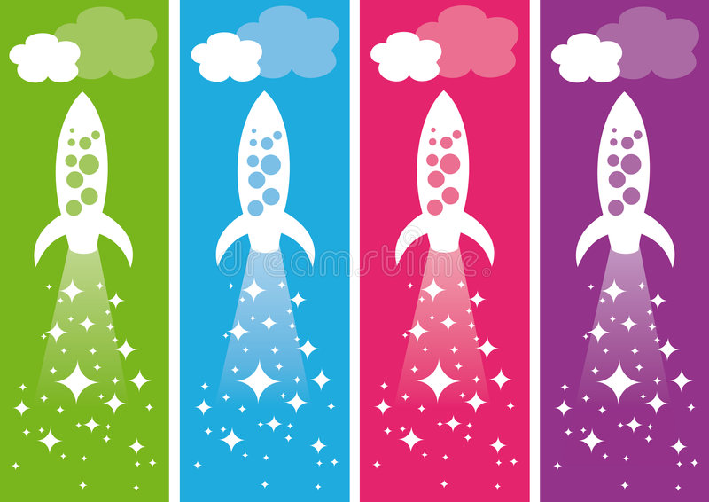 πύραυλοι διανυσματική απεικόνιση