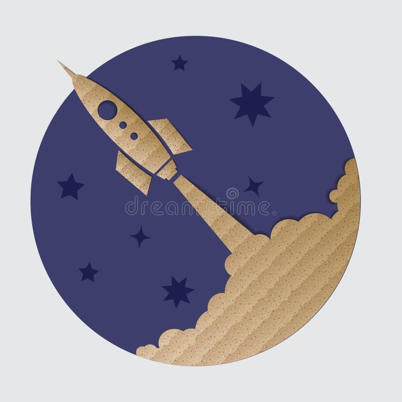 Πύραυλος χαρτονιού στοκ εικόνα με δικαίωμα ελεύθερης χρήσης