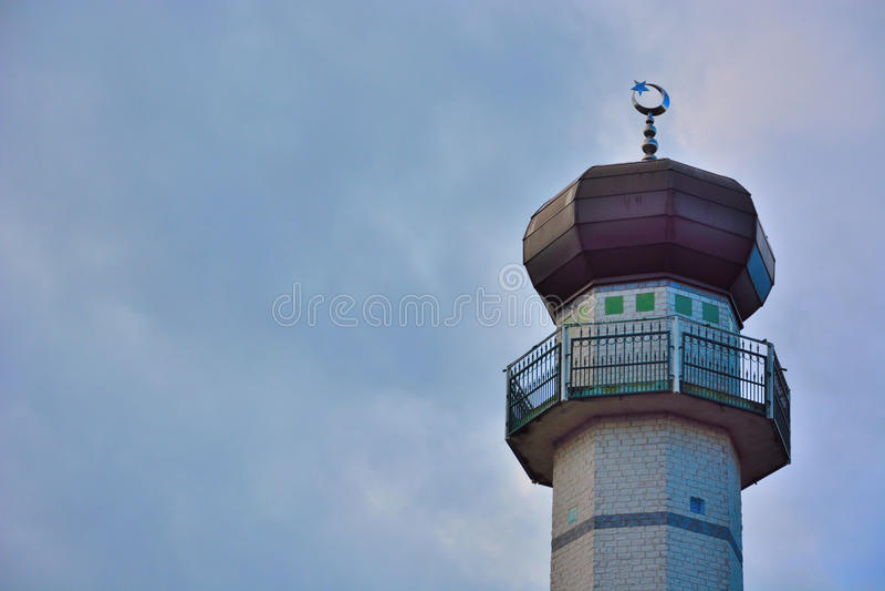 Πύργοι ενός μουσουλμανικού τεμένους στοκ εικόνα
