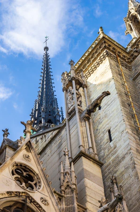 Πύργοι και gargoyles της Notre Dame στοκ εικόνες