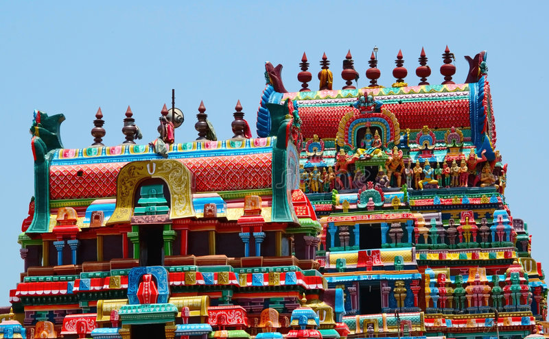 πύργοι ναών ramaswami στοκ εικόνα
