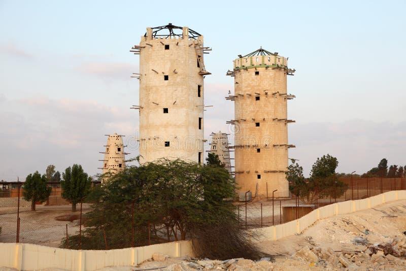 Πύργοι περιστεριών στο Κατάρ στοκ φωτογραφίες με δικαίωμα ελεύθερης χρήσης
