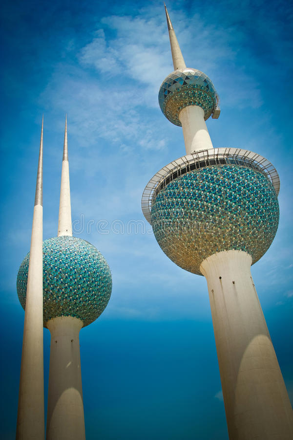 Πύργοι του Κουβέιτ στοκ φωτογραφία με δικαίωμα ελεύθερης χρήσης