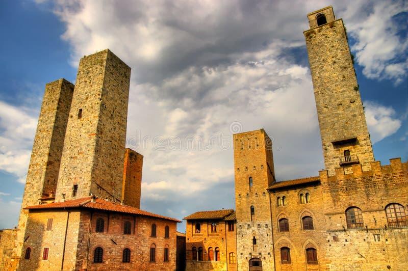 πύργοι gimignano SAN στοκ εικόνες