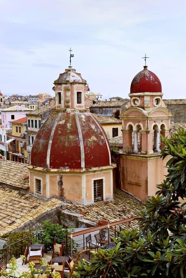 πύργοι kerkia εκκλησιών στοκ εικόνες