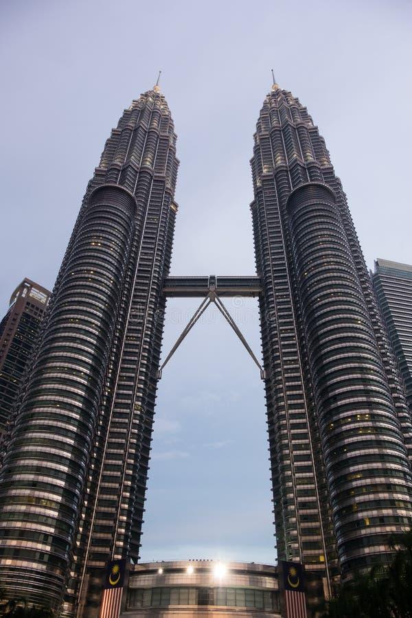 Πύργοι Petrona στη Κουάλα Λουμπούρ, Μαλαισία στοκ εικόνες